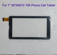 оптовых дюймовые панели-Для 7-дюймовый MTK6572 MTK6582 706 3G 2G телефон вызова Tablet сенсорный экран Сенсорный дисплей Стекло дигитайзер дигитайзера панель Замена MQ50