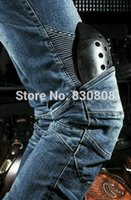 name brand jeans - Name Brand Designer Mens Race Jeans Motocross Knee Protection Jeans Motorcycle Riding Trousers denim ripped jeans skinny