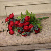 artificial outdoor wreaths - new arrival artificial roses silk flower for a small outdoor wedding bride holding home decoration arrangement wreath design gardeni