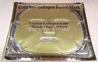 Wholesale Collagen Facial Mask crystal Gold powder collagen face masks Collagen eye Mask17 Face mask pcsNose mask