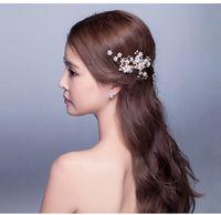 diamond tiara - Hot Sale Wed New Gold Fashionable Handmade Crystal Diamond Flower Pearl Hair Decoration Accessories Tiara Jewelry Bride Headwear for Wedding