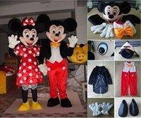 Wholesale Minnie Mascot Costume Pink Minnie Mouse Mascot Costume design Black Mickey Cartoon Costume