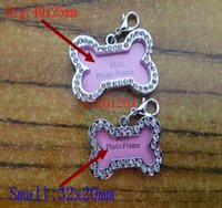 Wholesale Small Big Size DIY Rhinestone Pet Tags Personalized Pet Dog Tags Customized Puppy Cat Dog ID Tags