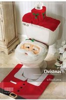 Wholesale Top rated Christmas bath set santa toilet seat covers seat cover rug tank cover bathroom accessories set sets