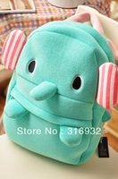Wholesale I2 New arrival kawaii sentimental circus mint green elephant child plush backpack for girls