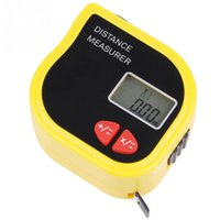 Wholesale 1pc Yellow Infrared Range Finder Distance Measurer Meter Rangefinder Small Portable