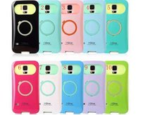 i-glow cases - new iphoe case i Glow iglow Hybrid Luminous Noctilucent Dual Color Q Ring Stand Holder Plastic Back Cover For iPhone inch DHL Free