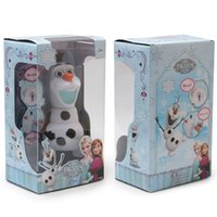 Wholesale Frozen dolls olaf inch musical Piggy bank Saving Coin Music Box Unique Toy Kids Decorative Gift Christmas Novelty Toys