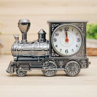 Wholesale New Men Retro Train Office Desk Alarm Clock Birthday Xmas creative Novelty Gift New Arrival Promotion hv5n