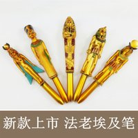 ancient egypt cleopatra - Ancient Egypt Cleopatra Pharaoh Pyramid gold luxury pens gift school office Religion supplies stationery ballpoint pen
