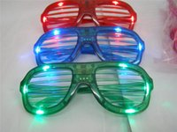 Wholesale LED Light Glasses Flashing Shutters Shape Glasses LED Flash Glasses Sunglasses Dances Party Supplies Festival Decoration Christmas Hollowen