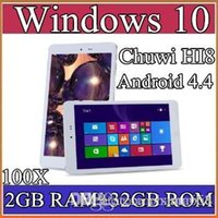 "Cheap 100X Chuwi HI8 Tablet PC Dual OS Windows 10 & Android 4.4 Dual Boots Bay Trail Z3736F 2GB 32GB Quad Core 8"" 1920x1200 IPS BT OTG 2-8PB"