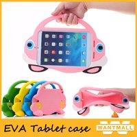 La tableta portable de una manija lleva el bolso La cubierta protectora de la caja de la tableta del silicón suave impermeable a prueba de choques para los mini cabritos del ipad