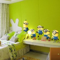 Wholesale despicable me Minions wall stickers D wallpapers wall decals children removable wallpaper for kids room E066