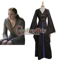arrival sansa - 2015 new arrival Sansa Stark Game of Thrones Vintage Medieval Dress Cosplay Costume Adult Women For Halloween