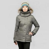 beige wool jacket womens - Canada brand Winter jacket women Raccoon Fur collar winter coat Lady down jacket Warm Female Anorak Womens winter jackets