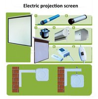 audio wall mounts - Cynthia Automatic K Projector Screen Motorised Screens Wall Mount Electrical Home Audio Cinema In Projection Screen