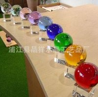 Wholesale 20pcs free fedex MM Small Size Clear Crystal Ball light crystal ball contact juggling good package magic props New arrival Free shi