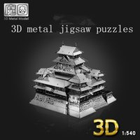 Wholesale 2015 NEW D stereo metal diy puzzle assembling toys for children creative architectural model of Himeji Castle Children Educational Toys