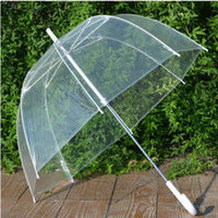 Wholesale New Arrive quot Big Clear Cute Bubble Deep Dome Umbrella Gossip Girl Wind Resistance