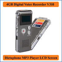 Wholesale Rechargeable GB Voice Activated USB Digital Audio Voice Recorder Dictaphone MP3 Player Black Drop shipping With Retail Box Plus VR310