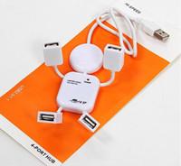 Wholesale Lovely White Human Shape HI SPEED USB port USB HUB Doll shape usb hub