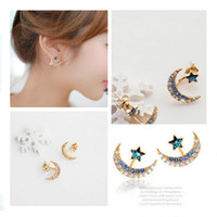beautiful wild - 2015 Superfine beautiful earrings wild sweet lady of high quality accessories moon star earrings new fashion lovely girl