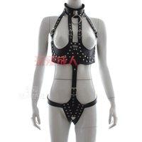 bondage wear - Female PU Body Harness Teddy Sex Bra Pant Wear Bondage Belt Adult SM Product