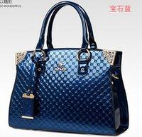 Wholesale NO New Women Genuine Leather Handbags Plaid Lady s Shoulder Clutch Bolsas Femininas Patent Brand Women Leather Bags SJ11
