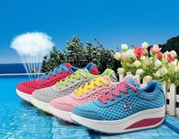 shape ups - Womens Casual Mesh Shape Ups Slip On Lace Up Walking Fitness Shoes Sneakers
