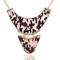 big leopard necklaces - spring new European and American big exaggerated retro leopard jewelry accessories alloy plate necklace