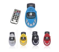 Wholesale Hot Car MP3 Player Wireless FM Transmitter USB SD MMC Slot NEW Digital Egg Car MP3 Player