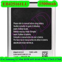 Wholesale 100pcs New EB425161LU Battery for Samsung S3 Mini i8190 i699 i8160 S7562 S7562I S7568 Phone Battery AKKU Bateria PIL