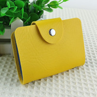 banks style bag - Korea Fashion Business Credit Card Holder Bags Leather Strap Buckle Bank Card Bag Card Case ID Holders Business Card Wallets