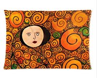 background artists - Austria Symbolon Painting Artist amp Gustav Klimt Works Background Soft Cushion amp Custom Pillow case x30 Inch two sides