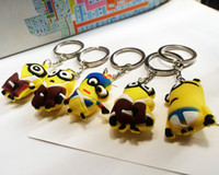 Wholesale 2015 NEW D Despicable Me Minion Action Figure Keychain Keyring Key Ring Cute Promotion Gifts OPP packing Lowest Price style