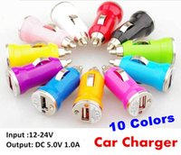 Wholesale 1000PCS Mini USB Car Charger USB Charger Universal Adapter for iphone S Cell Phone PDA MP3 MP4 player mobile i9500 s3 m7 JE9
