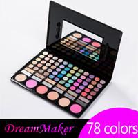 baking powder - 78 Color Eye Shadow eyeshadow Blush Palette New Baked Glitter Shimmer Pearlustre Mineral Powder Makeup set Kits Hot High Quality g DM6028
