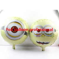 50pcs / lot 18inch un deux ballons Minion baby shower Foil Balloon, Despicable me Parti / Anniversaire / Décorations de mariage