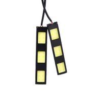 Cheap 1Pair 6W COB 3 LED Car Headlight Daytime Running Light Bar DRL Auto Driving Led Lamp Fog Light White 12V 6000-6500K order<$18no track