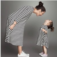 childrens clothing - 2016 Childrens Clothing Korean Style Childrens Fashion Pockets Casual Dress Baby Girls Long Sleeve Striped Loose Dress