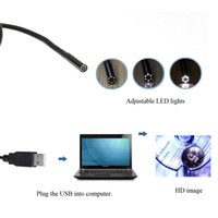 Wholesale 6 LED USB Water Resistant Endoscope Borescope M Line MM Pixel Mini Snake Inspection Video Camera with Camera Button Adjustable