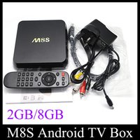 Wholesale M8S KODI K TV Amlogic S812 A9 Quad Core GB GB MINI PC Stream Android Media Player IPTV Full HD D Films OTH113