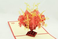 Wholesale Greenfox paper carving paper cut cornucopia customer wishes stereoscopic d CARDS handmade creative custom
