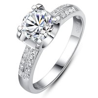 Wholesale Tau carbon models on tall women and four claw diamond ring sterling silver kt one karat diamond ring