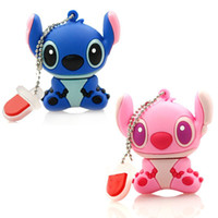 Wholesale New Stitch USB flash drives GB GB GB GB Pen drives flash card External storage cartoon Memory Card The best gift