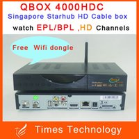 3pcs cuadro de StarHub Singapore QBOX 4000HDC TV por cable,Receptor de la misma como Blackbox 700HDC,upgarde de Blackbox C808 plus+ adaptador wifi,