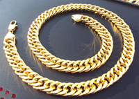 24k solid gold - 96g Burly men s k solid yellow gold GF Thick necklace chain quot mm wide