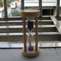 Wholesale Birch minutes brushing timer hourglass creative exercises multipurpose tool ornaments