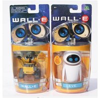 Wholesale 2 Styles Selectable Cartoon Movie Wall E Toy Walle Eve PVC Figure Toys Wall E Robot Figures Dolls Retail cm